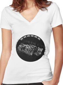 Burn up the road Women's Fitted V-Neck T-Shirt