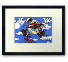 Fun with a helicopter Framed Print