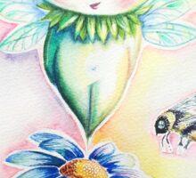 Flower Fairy Watercolor  Sticker