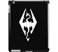 The Skyrim Symbol - Simple White iPad Case/Skin