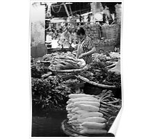 Bangkok Flower Market - Vegetables Poster