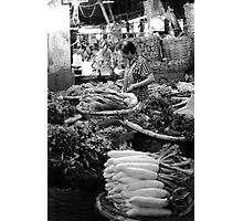 Bangkok Flower Market - Vegetables Photographic Print