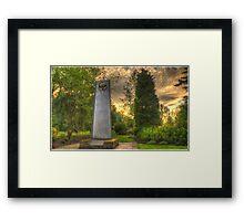 Garden of Piece Framed Print