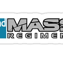 2nd MASS. Regiment - Teal Sticker