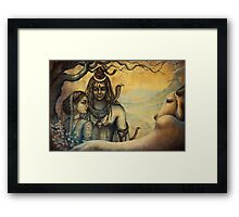 Shiva and Parvati. Spring in Himalayas Framed Print