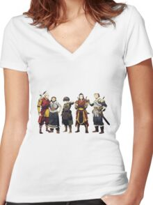 Avatar Old Friends Women's Fitted V-Neck T-Shirt