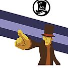 Professor Layton Pointing! by TheWinterCold
