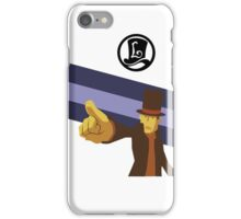 Professor Layton Pointing! iPhone Case/Skin