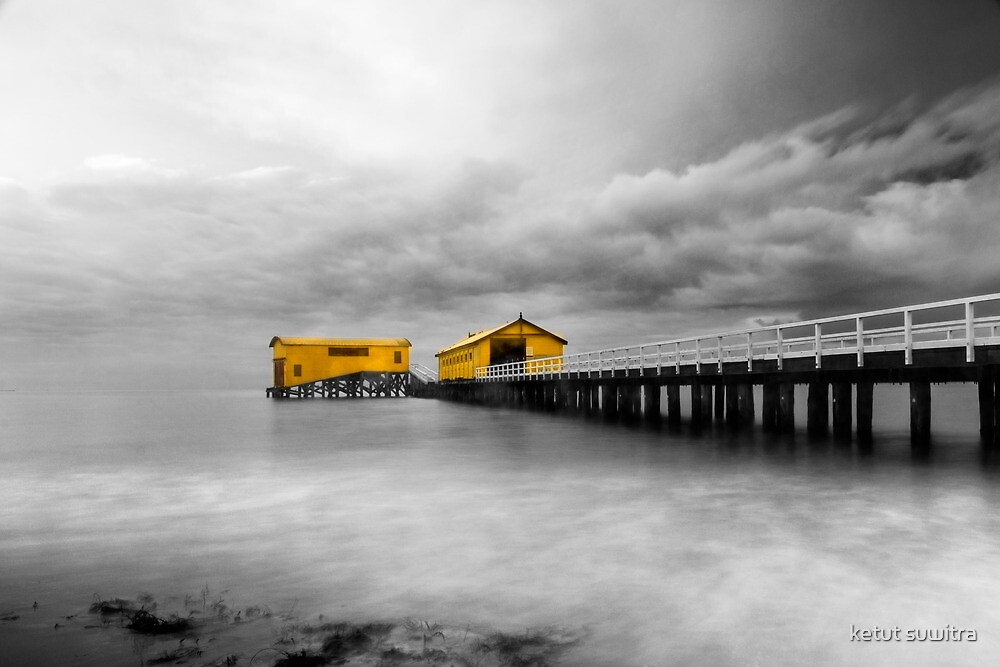 the old ferry station by ketut suwitra