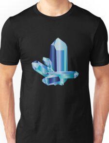 Aquamarine Crystal Design Unisex T-Shirt