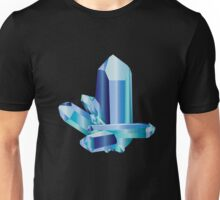 Aquamarine Crystal Design Unisex T-Shirt