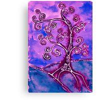 Tree 2 Indigo Canvas Print