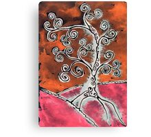Tree 2 Orange Canvas Print