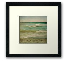 sea square X Framed Print
