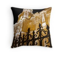 Cathedral at Night Throw Pillow