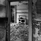 Interior B&W of derelict house.  by Fred Taylor