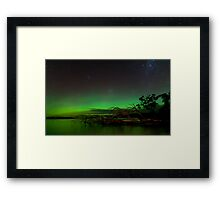 Aurora Australis, Huon Estuary  Framed Print