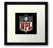 Nerd Poker League Framed Print