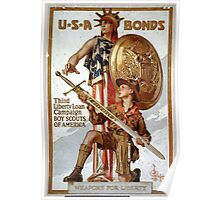 USA Bonds Third Liberty Loan Campaign Boy Scouts of America Weapons for liberty Poster