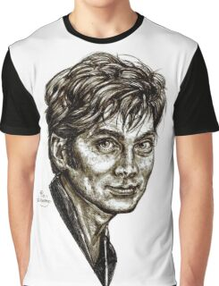 David Tennant - Doctor Who - Allons-y (Drawing) Graphic T-Shirt