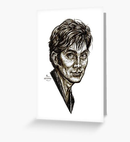 David Tennant - Doctor Who - Allons-y (Drawing) Greeting Card