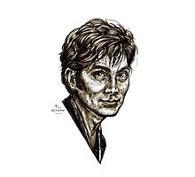 David Tennant - Doctor Who - Allons-y (Drawing) Photographic Print