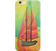 Cubist Abstract Sailing Boat iPhone Case/Skin
