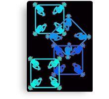 Shape Monkeys - Square Canvas Print
