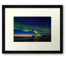 Aurora oval Framed Print