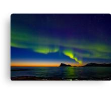 Aurora oval Canvas Print