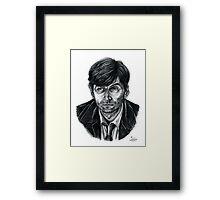 David Tennant as Broadchurch's Alec Hardy (or Gracepoint's Emmett Carver) (Graphite) Portrait  Framed Print