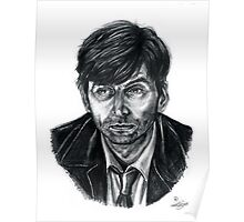 David Tennant as Broadchurch's Alec Hardy (or Gracepoint's Emmett Carver) (Graphite) Portrait  Poster