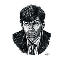 David Tennant as Broadchurch's Alec Hardy (or Gracepoint's Emmett Carver) (Graphite) Portrait  Photographic Print