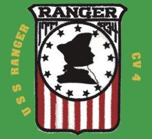 USS Ranger CV-4 for Dark Colors Kids Tee