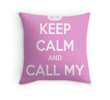 Call My Name - cheryl Throw Pillow