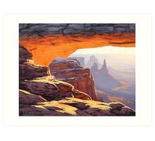 Arch Sunrise Art Print