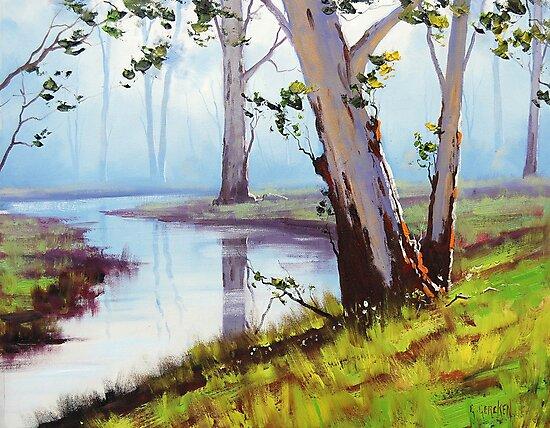 River Gum trees by Graham Gercken