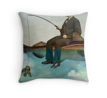 Sky Fishing Throw Pillow