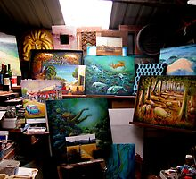 My Work Area by Malcolm McCoull