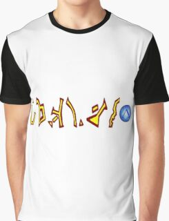 Earth Address Glyph Graphic T-Shirt