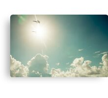 Blue Angels into the sun Canvas Print