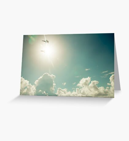 Blue Angels into the sun Greeting Card