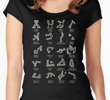 Dialing Address Glyph Set 1 Dark Backgrounds Women's Fitted Scoop T-Shirt