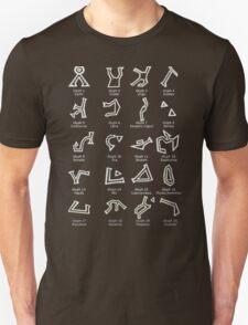 Dialing Address Glyph Set 1 Dark Backgrounds T-Shirt