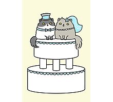 Kitty Cat Wedding Photographic Print