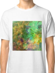 colorful floral collage grunge style Classic T-Shirt