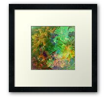 colorful floral collage grunge style Framed Print