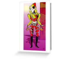 Yellow Jacket Figure Greeting Card