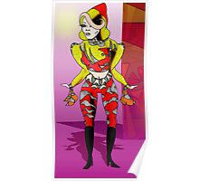 Yellow Jacket Figure Poster