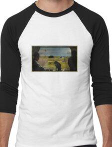 Hitchcockasaur Men's Baseball ¾ T-Shirt